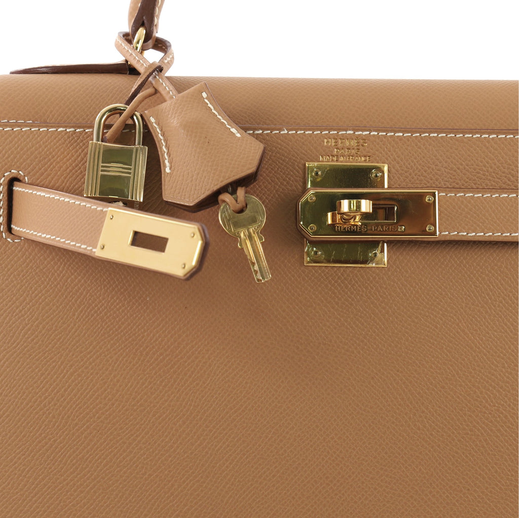 bda47c370b6f Hermes Kelly Handbag Brown Courchevel with Gold Hardware 28 3707912 ...