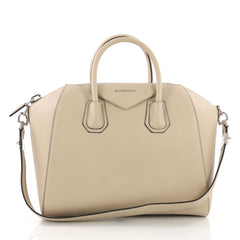 Givenchy Antigona Bag Leather Medium Neutral 370882
