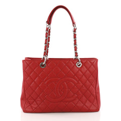 Chanel Model: Grand Shopping Tote Quilted Caviar Red 37108/2