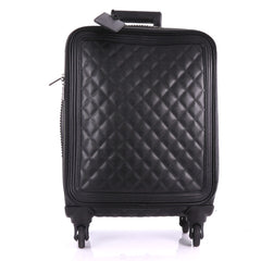 Chanel Model: Coco Case Rolling Trolley Quilted Caviar Black 37114/9