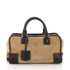 Loewe Amazona Bag Suede 28 Brown 372132
