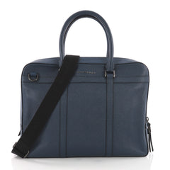 Burberry Ormond Convertible Briefcase Leather Blue 3724512