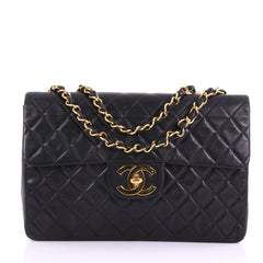 Chanel Vintage Classic Single Flap Bag Quilted Lambskin 372452