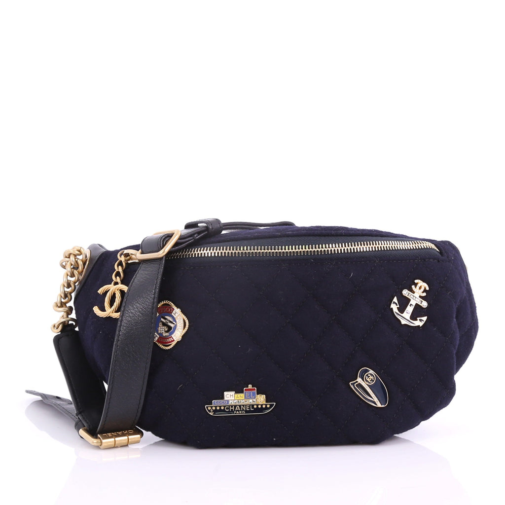 8c57898cb33 Chanel Paris-Hamburg Charms Waist Bag Quilted Wool and 372461