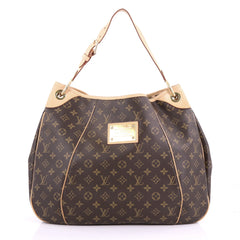 Louis Vuitton Galliera Handbag Monogram Canvas GM Brown 372541