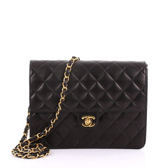 Chanel Model: Vintage Clutch with Chain Quilted Leather Small Black 37258/1