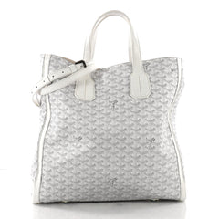 Goyard Voltaire Convertible Tote Coated Canvas White 372701