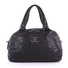 Chanel Coco Rider Bowler Bag Quilted Aged Calfskin Large 372961