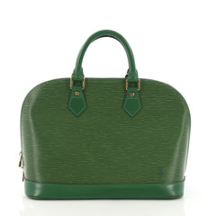 Louis Vuitton Vintage Alma Handbag Epi Leather PM Green 37316159
