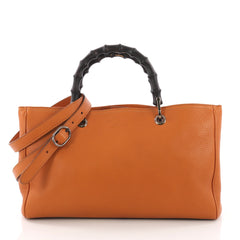 Gucci Bamboo Shopper Tote Leather Medium Orange 37316160