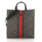 Gucci Model: Convertible Soft Open Tote Caleido Print GG Coated Canvas Black 37316/170