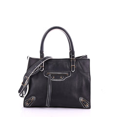 Balenciaga Model: Papier A4 Classic Studs Handbag Leather Mini Black 37316/175