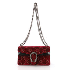 Gucci Dionysus Handbag GG Velvet Small Red 37316185