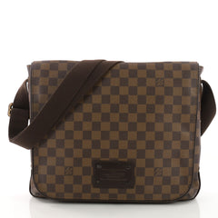 Louis Vuitton Brooklyn Handbag Damier MM Brown 37316201