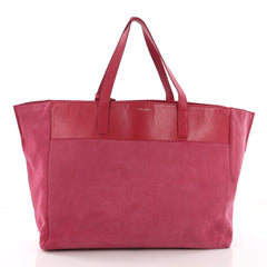 Saint Laurent Reversible East West Shopper Tote Leather Pink 3731630