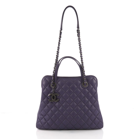 Chanel Daily Tote Quilted Lambskin Medium Purple 373163 – Rebag b21f7d18c3223