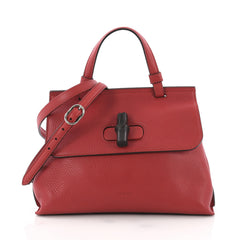Gucci Model: Bamboo Daily Top Handle Bag Leather Small Red 37316/43