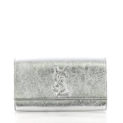 Saint Laurent Model: Belle de Jour Clutch Leather Large Silver 37316/59