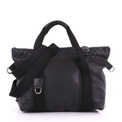 Sport Line Convertible Zip Tote Leather Large