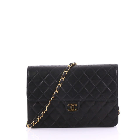 9a46c7a3ee0c43 Chanel Vintage Clutch with Chain Quilted Leather Medium 37370113 – Rebag