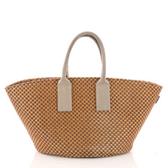 Hermes Basket Weave Tote Woven Jute Small Neutral 3737014