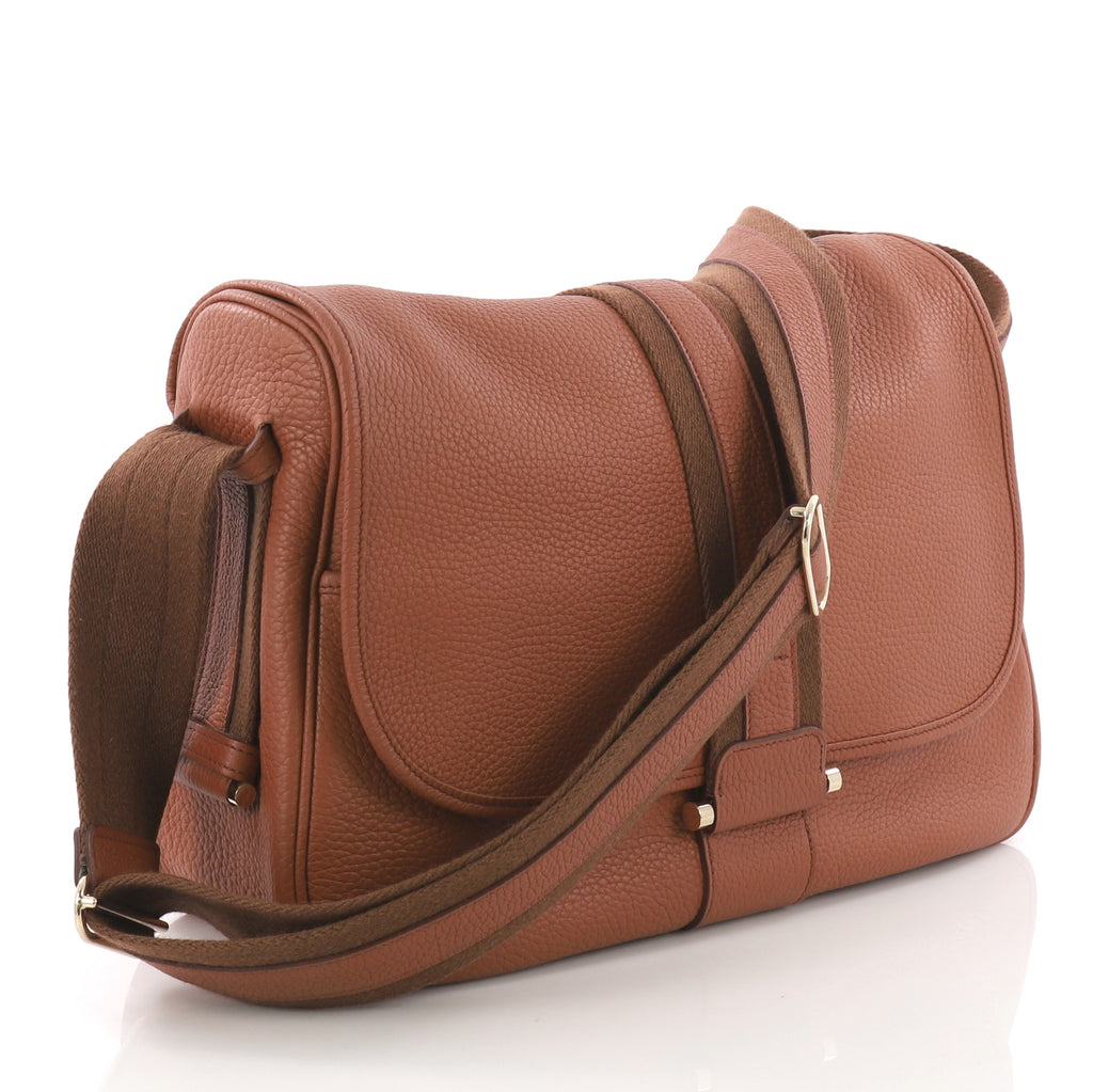 7c0c86176b4 Hermes Bourlingue Messenger Bag Clemence Brown 3737015 – Rebag