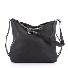 Chanel Messenger Strap Tote Quilted Calfskin Medium 37370170