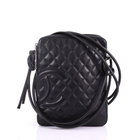 505f7bb28fb3 Chanel Cambon Crossbody Bag Quilted Leather Medium Black 37370171 – Rebag