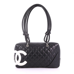 Cambon Bowler Bag Quilted Leather Medium