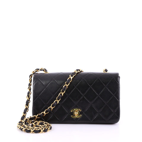 353a88dd8619 Chanel Vintage 3 Way Full Flap Bag Quilted Lambskin Mini 37370186 – Rebag