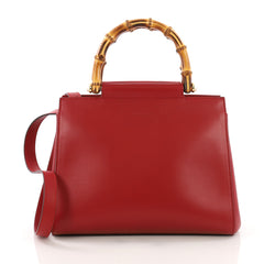 Gucci Nymphaea Tote Leather Small Red 3737018