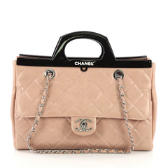Chanel CC Delivery Tote Quilted Glazed Calfskin Small 3737046