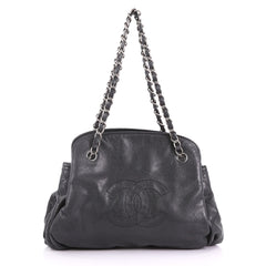 Chanel Timeless CC Compartment Bowler Caviar Large Black 3737095