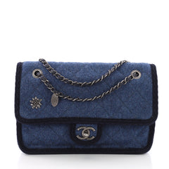 Chanel Paris-Salzburg Flap Bag Quilted Wool Small 373901