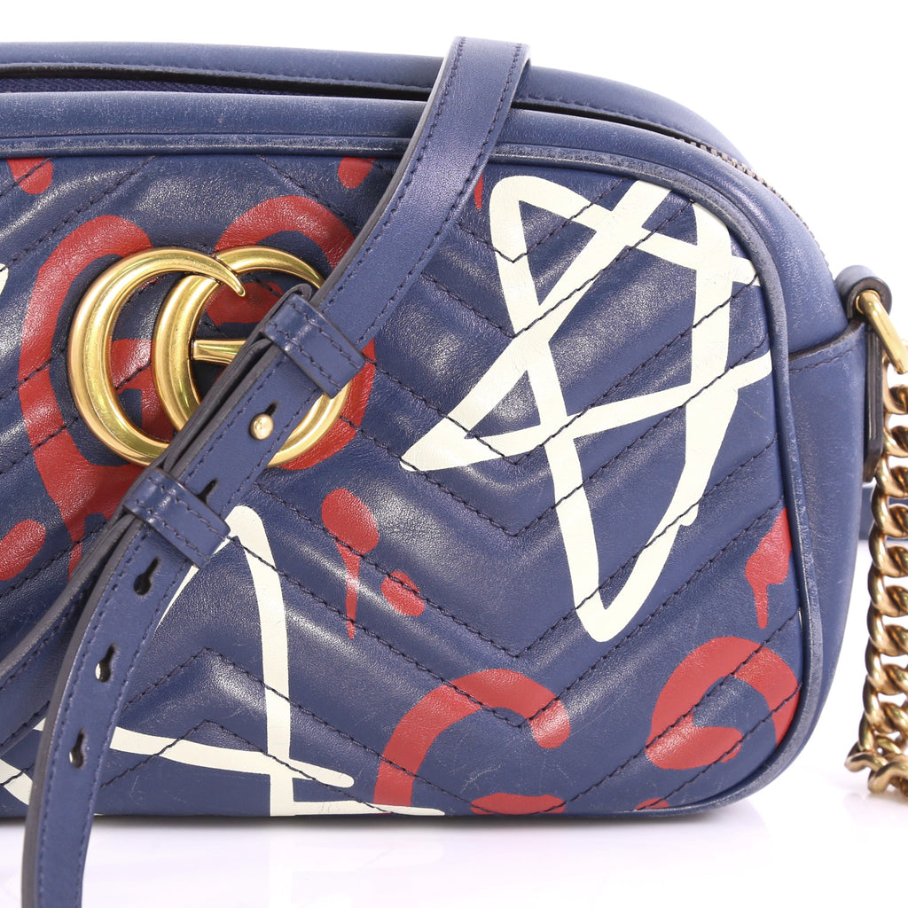 a32e8c04f19bf7 Gucci GG Marmont Shoulder Bag GucciGhost Matelasse Leather 374172 ...