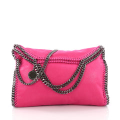 Stella McCartney Falabella Fold Over Bag Shaggy Deer Pink 374201