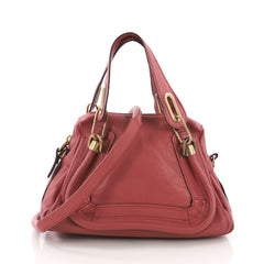 Chloe Paraty Top Handle Bag Leather Small Pink 374341