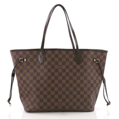 Louis Vuitton Neverfull Tote Damier MM Brown 374521