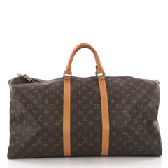 Louis Vuitton Keepall Bag Monogram Canvas 55 Brown 3745221