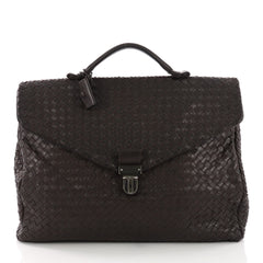 Bottega Veneta Envelope Briefcase Intrecciato Nappa Brown 3745243
