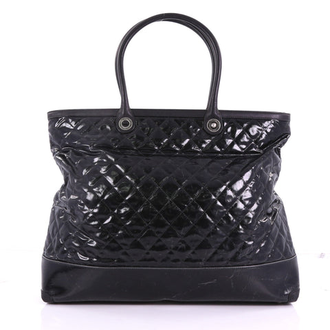 e2cc38fe102c Chanel CC Charm Zip Tote Quilted Coated Canvas Large 3745267 – Rebag