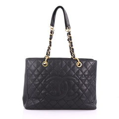 Chanel Grand Shopping Tote Quilted Caviar Black 374582