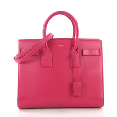 Saint Laurent Sac de Jour Handbag Leather Small Pink 3746914
