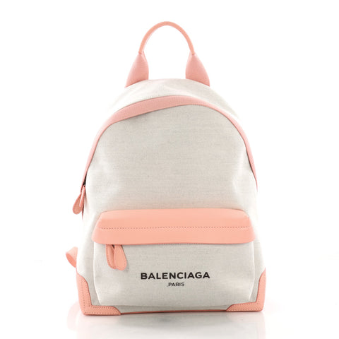 471a4e44c Balenciaga Navy Backpack Canvas Medium Pink 3746948 – Rebag
