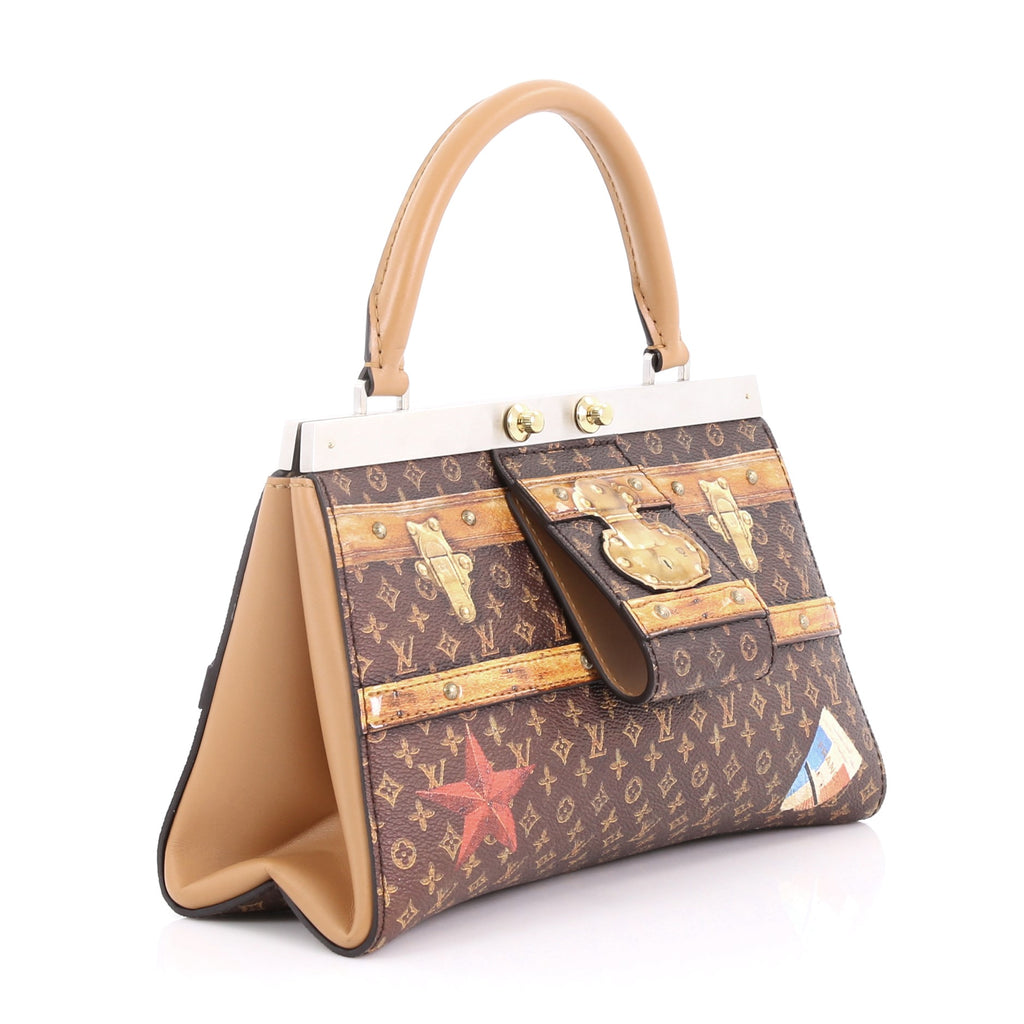 58f2c60b074 Louis Vuitton Crown Frame Tote Limited Edition Time Trunk 374787 – Rebag