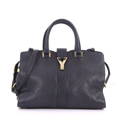 Saint Laurent Chyc Cabas Tote Leather Small Blue 3748011