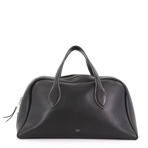 60dc852dbaec Celine Bowling Bag Leather Large Black 375021 – Rebag
