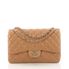 Chanel Classic Double Flap Bag Quilted Lambskin Jumbo 375151