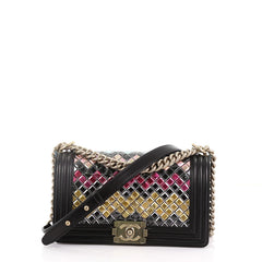 Chanel Mosaic Boy Flap Bag Embellished Lambskin Old Medium 3752815