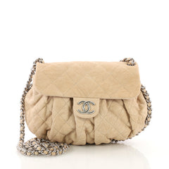 Chanel Chain Around Flap Bag Quilted Leather Medium 3752824